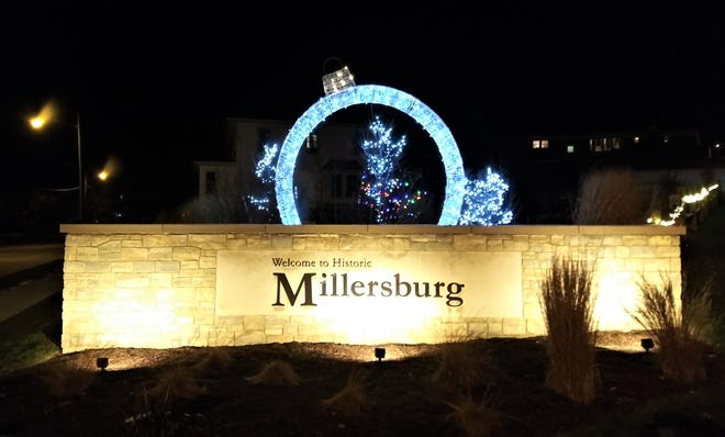 The greenspace at the intersection of South Washington and Clay Streets is lit up nicely for the holiday season. Millersburg councilman Bob Shoemaker commended the residents of the village for their efforts to spread cheer through holiday lights this year.