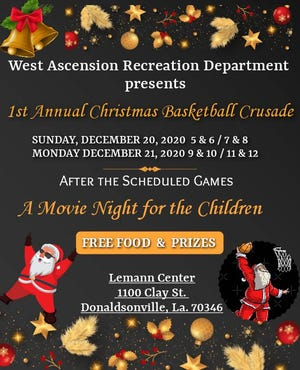 West Ascension Recreation present its inaugural Christmas Basketball Crusade.