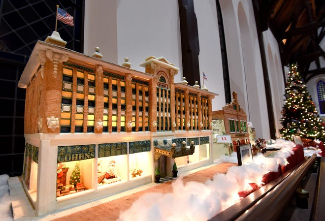 The St. James Building — now home to City Hall — is shown as Cohen's department store in this 2012 Best in Show-entry from the Jacksonville Historical Society's Gingerbread House Extravaganza.