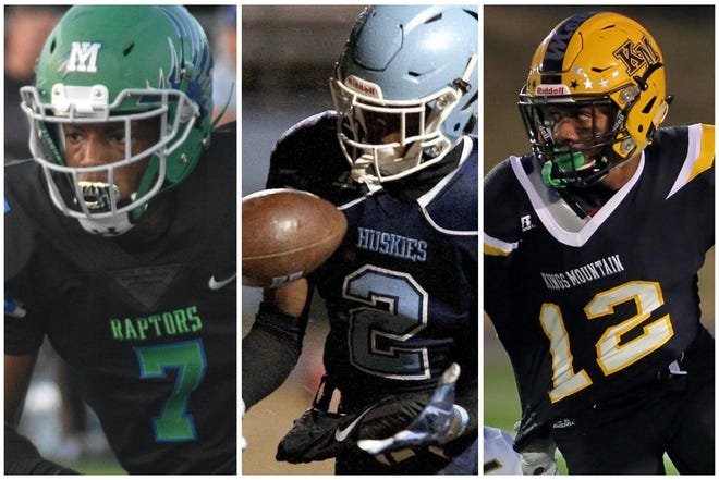 Mountain Island Charter's Gabe Stephens, Hunter Huss' Dontavius Nash and Kings Mountain's Kobe Paysour will soon be teammates as part of the North Carolina football program.