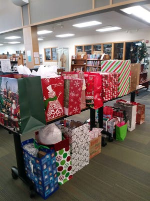 """Donations from the """"Angel Tree"""" ready to go to residents at Hillcrest Home."""