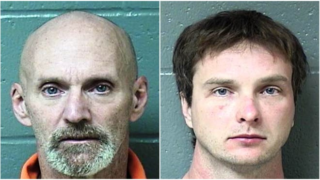 Clifford D. Branham, left, and Otis D. Harrell are suspected of being key figures in a burglary ring active for months in Marshall, Tazewell and Woodford counties.