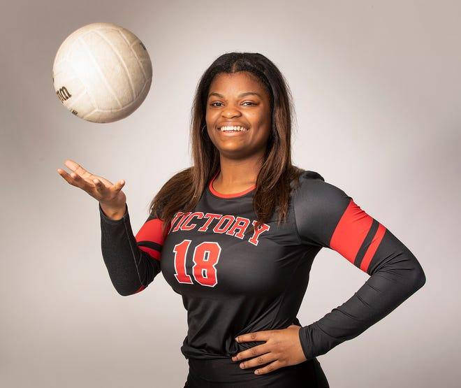 All County Volleyball - Victory Damyah Joyner  in Lakeland Fl. Thursday December 10, 2020.