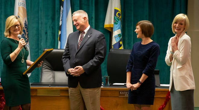In December, the County Commission presented Clerk of the Circuit Court and Comptroller David Ellspermann with a proclamation honoring his longtime service to Marion County.