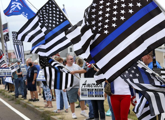 The thin blue line flag has become an increasingly divisive symbol