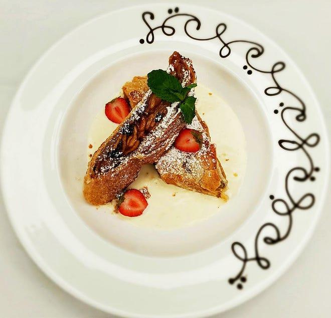 Restaurant 44's upcoming three-course Tyrolean menu will feature an apple strudel dessert.