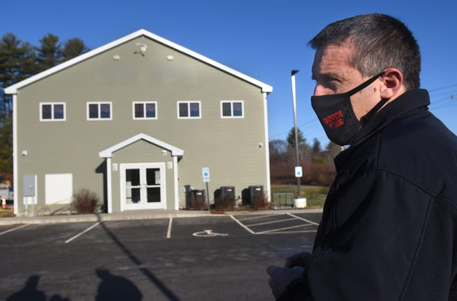 Dover Fire Chief Paul Haas is seen in Somersworth outside a new warming center for the Tri-City area.