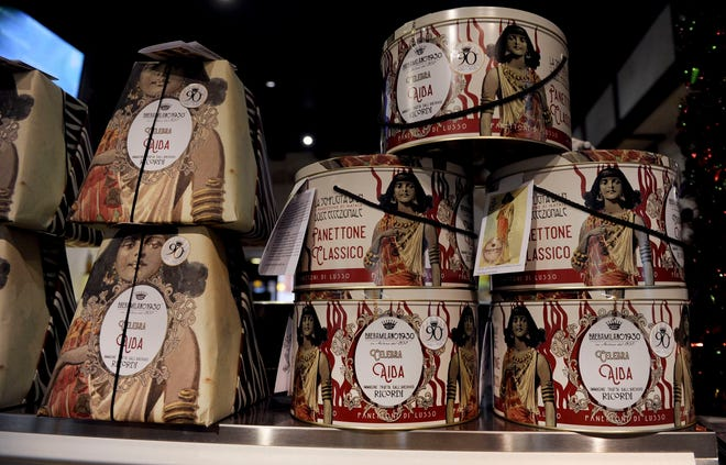 Different types of Italian panettone are available Amici Market in Palm Beach. [MEGHAN MCCARTHY/palmbeachdailynews.com]