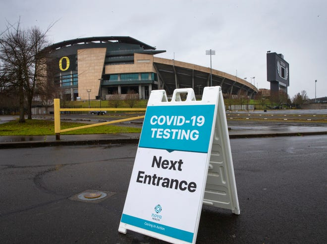 Instead of hosting tailgate parties during Oregon Duck football games, the parking lot at Autzen Stadium is the site of drive through COVID-19 testing this year. The governor's pandemic clamp down on gatherings has impacted event venues across the state.