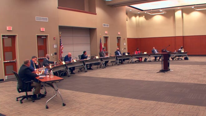 The Cleveland County Board of Education met on Monday.