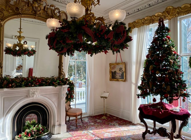 Bellamy Mansion is decorated inside and out for guests who visit for a socially distant tour this Christmas season.