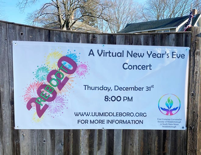 First Unitarian Universalist Society of Middleborough will host REBOOT 2020, a virtual New Year's Eve event, on Dec. 31.