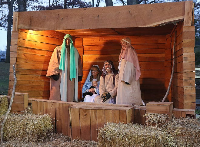 A live Nativity scene was a hit at last year's Christmas in the Park event.