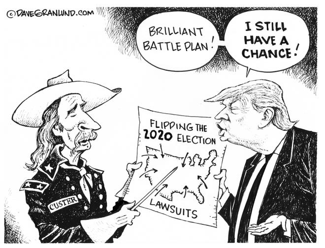 Trump's last stand has about as much chance as the first one. By Dave Granlund.
