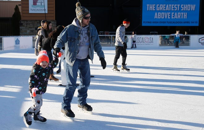 Ice skating at the city of Tuscaloosa's Holidays on the River will remain suspended until at least Jan. 4 because of staffing shortages, Mayor Walt Maddox said. [Staff file photo/Erin Nelson]