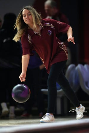 Senior Madison Shaw is one of the top returnees for the Watterson girls bowling team and first-year coach Kelly Bishop. The Eagles went 15-2 last season. They won the COHSBC-D Division and tied Ready for first in the CCL.
