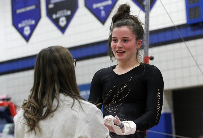 Upper Arlington's Hope Perry is one of four key returnees for the gymnastics team, which is seeking its fourth consecutive league title and first trip to state since 2015.