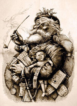 Francis P. Church's editorial, 'Yes Virginia, There is a Santa Claus' first appeared in The New York Sun in 1897.