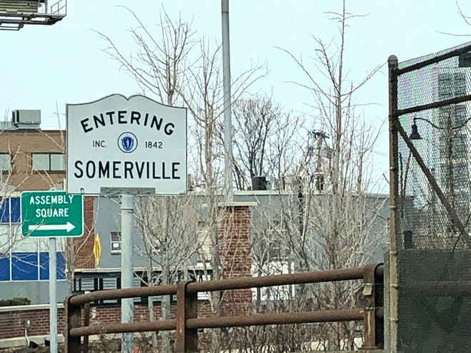 Entering Somerville.