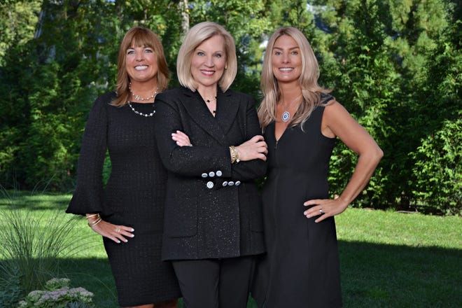 Pictured, from left: Lara O'Rourke, Debi Benoit and Chelsea Robinson.