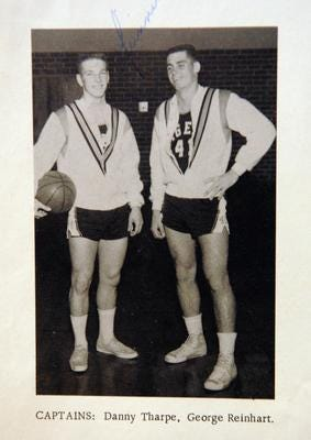 Danny Tharpe, left, led Cocoa High to a state championship in basketball in 1960.