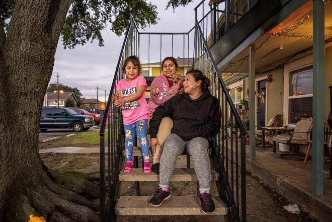Elsa Ramírez and her daughters Josseline, 11, and Francheska, 4, have managed to stay housed in their two-bedroom Houston apartment thanks to a federal eviction moratorium that expires at the end of the month.