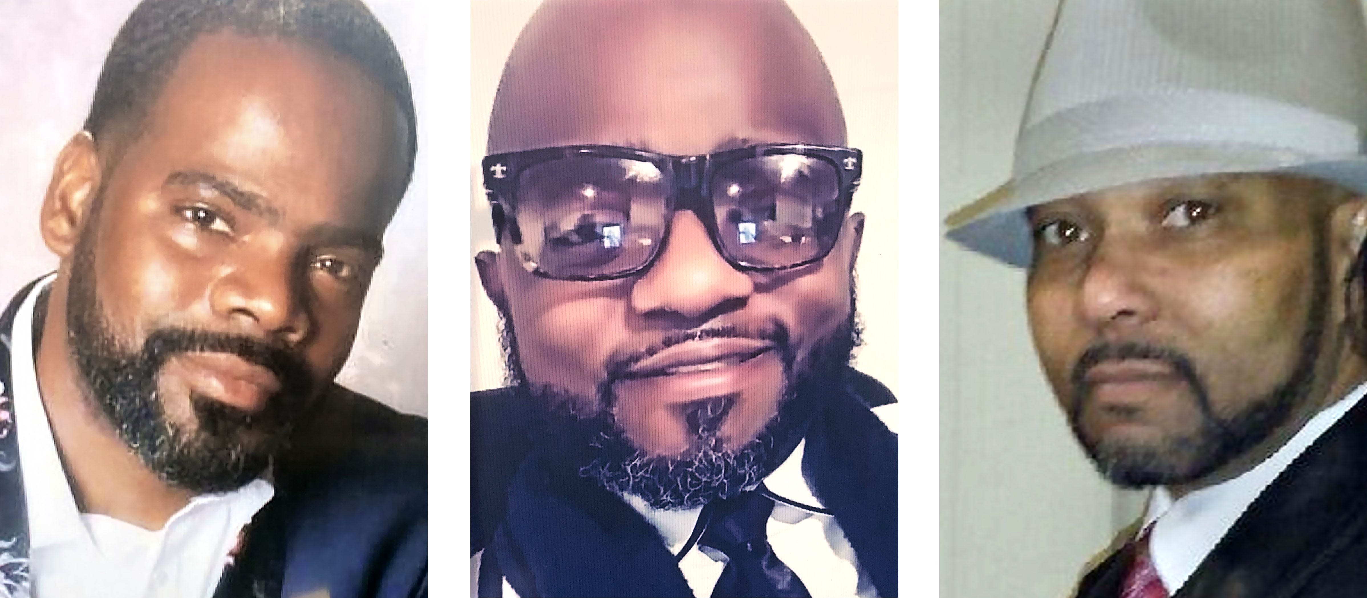 """From left, Ricardo Smith, 41, of Southfield, Michael Duren, 43, of Detroit and Thomas """"Anthony"""" Johnson, 51, of Canton."""