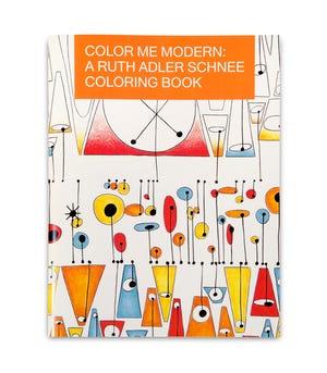 Tekstil modernis perintis Ruth Adler Schnee sekarang menjadi buku mewarnai - $ 10 di Cranbrook Art Museum.