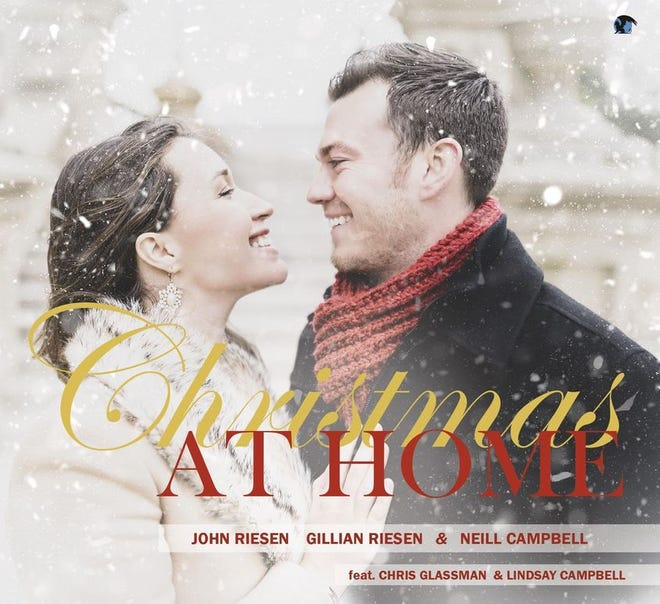 """Classical tenor John Riesen recorded """"Christmas at Home"""" with his wife Gillian Riesen and their friend pianist Neill Campbell."""