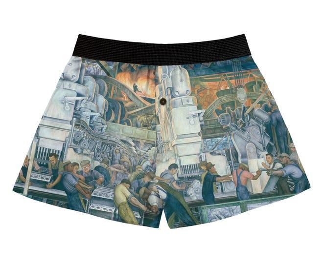 Pamerkan barang-barang Anda dengan celana pendek petinju Diego Rivera, $ 24,95, dari Detroit Institute of Arts.