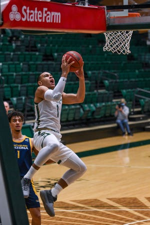 Colorado State sophomore forward John Tonje, shown in a game earlier this season, had a career-high in points as the Rams beat Santa Clara on Tuesday.