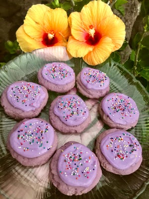 Crinkle cookies have led the ube dessert craze, but this Lofthouse style recipe offers another style you can try.