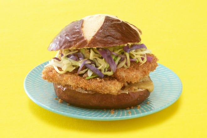 A Gemuetlichkeit Spamwich is Spam and cabbage on a pretzel bun.