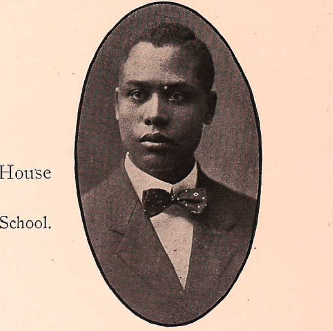 Arthur Madison as seen in the 1910 Bowdoin Bugle, the yearbook for Bowdoin College in Brunswick, Maine. Madison was the only Black member of the graduating class, and the only one from the South.