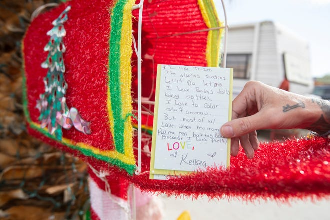 Kayti Blake Edwards, of La Quinta, posted on Facebook last month that she was accepting letters to Santa and has been fulfilling toy requests to help support some of her neighborhood's children this Christmas.