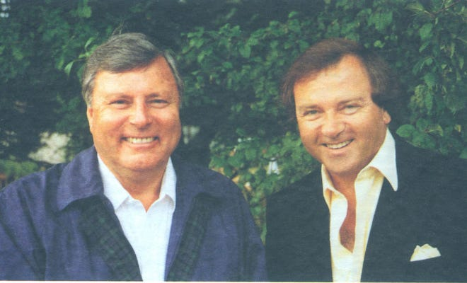 Clive Clark (right) or La Quinta remembers fondly his days as a player and a commentator with Peter Allis (left), the voice of golf for the BBC for 40 years. Allis died Dec. 5 at 89.