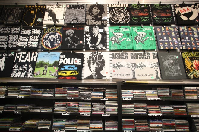 Record Alley at Westfield Palm Desert. The store has announced it will close its operation after 42 years in business.