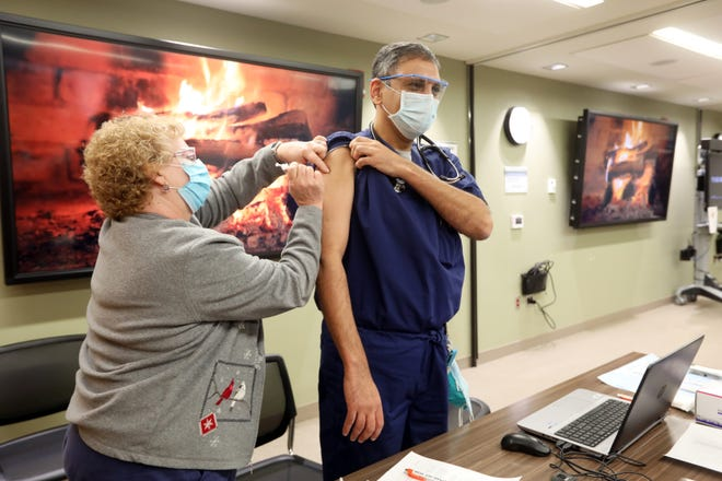 Health care workers were among the first to receive COVID-19 vaccines in Ohio. On Dec. 13, Genesis HealthCare began distributing the first doses to its employees.