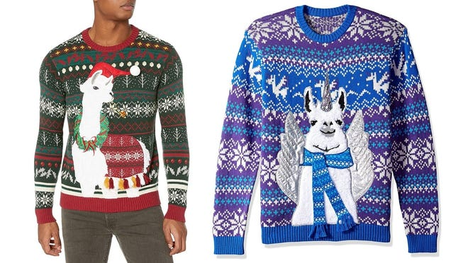 There's nothing (or everything?) lame about a llama sweater.