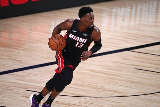 Miami Heat forward Bam Adebayo averaged 15.9 points, 10.2 rebounds and 5.1 assists last season.