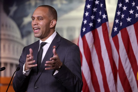 House Democratic Caucus Chair Hakeem Jeffries, D-N.Y., speaks during a news conference November 17, 2020 on Capitol Hill.