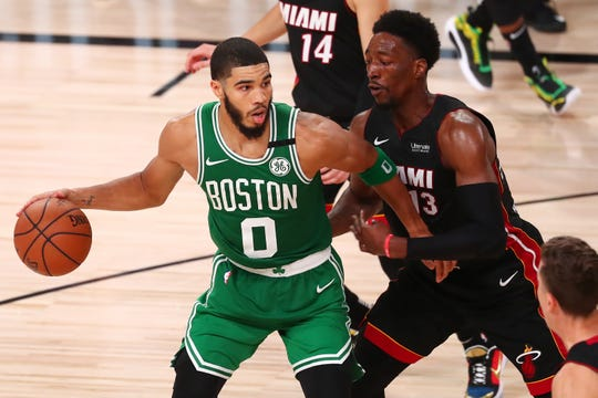 Boston Celtics forward Jayson Tatum averaged 23.4 points and 7.0 rebounds last season.