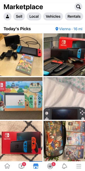 You can buy or sell used video games and consoles on Facebook Marketplace.