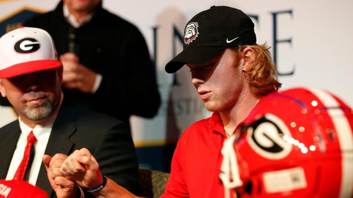 UGA football's Brock Vandagriff among top freshmen in marketing potential