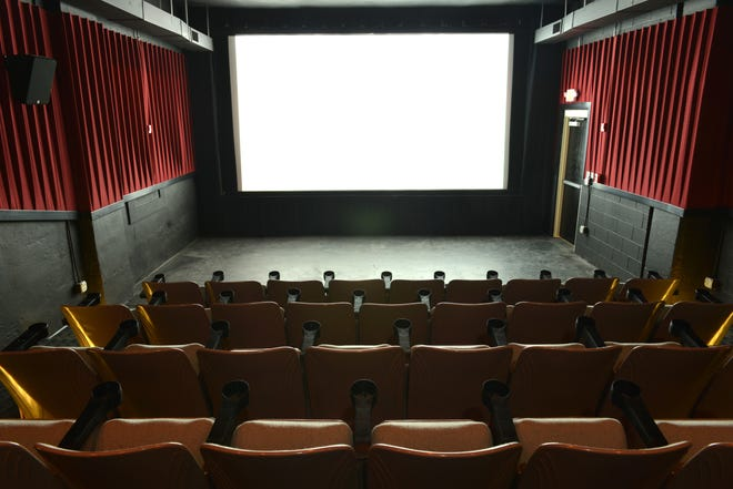 An interior view of the Nightlight Cinema in Akron, which plans to reopen in February or March.