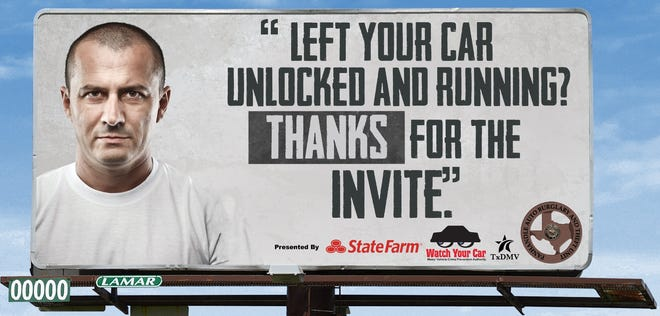 The Panhandle Auto Burglary and Theft Unit has launched a variety of initiatives, such as billboards, as a means of  encouraging motorists to secure their vehicles.