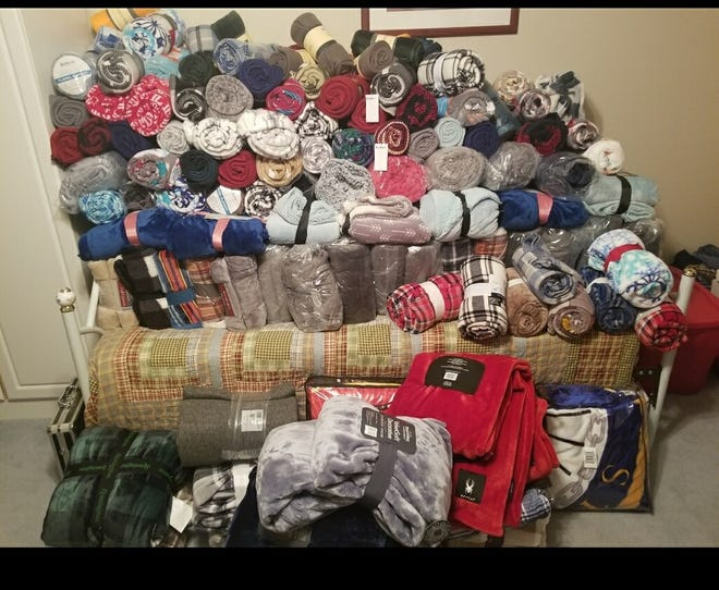 Wrap a Veteran with Love has accumulated 300 blankets to distribute to veterans living at the Ardmore and Sulphur centers. This year veterans will also be receiving snacks, games, and puzzle books.