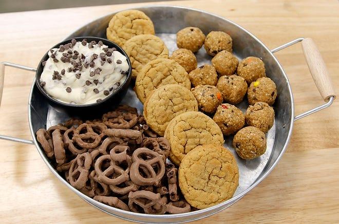 Gassers Marketplace's peanut butter sandwich cookies and protein energy balls. TOM E. PUSKAR/TIMES-GAZETTE.COM