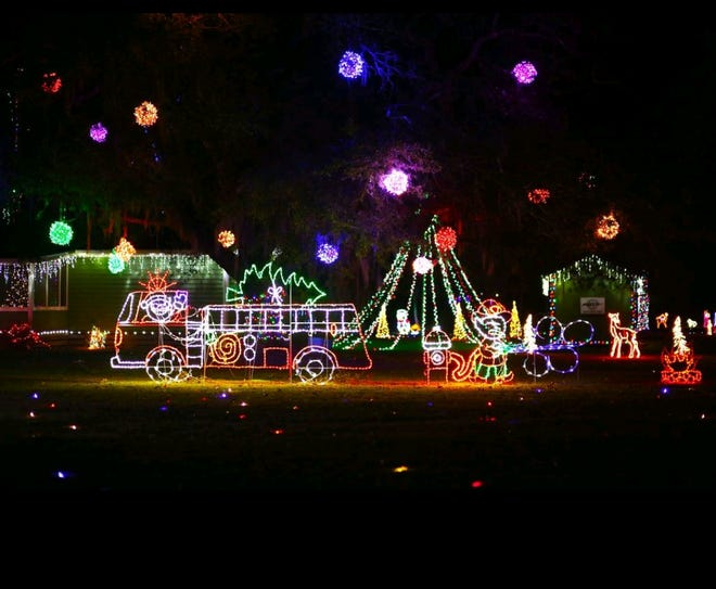 The Brendlen family's Christmas light display is open for viewing at 1570 Driggers Lane in Ridgeland from 6-10 p.m. until Dec. 31, weather permitting.