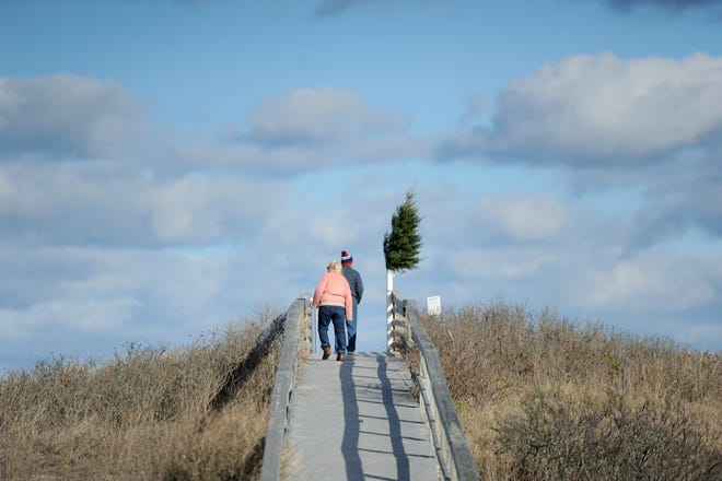 The Sandwich Boardwalk was last reconstructed in 1992, but storms, weathering and decay have taken their toll on the structure. [Merrily Cassidy/Cape Cod Times file]